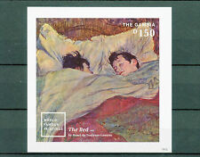 Gambia 2014 MNH World Famous Paintings II 1v Imperf S/S Art Bed Toulouse Lautrec
