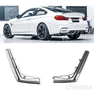 For 2015-2019 BMW F80 M3 F82 M4 Rear Bumper Diffuser Extension 2PCS Carbon Look