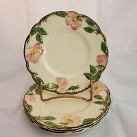 "Set of 4 Franciscan Desert Rose 6 1/4"" Bread and Butter Dessert Plates USA"