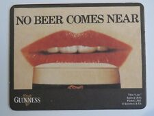 Beer Pub Coaster: GUINNESS & Co Stout ~ Lips ... Comes Near! ~ Dublin, IRELAND