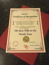 Unusual Birthday / Thank You Gift Best Dad Daddy Mum Grandad Certificate Br