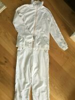vintage puma size M white jacket and joggers/outfit 70' 80'