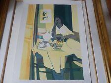 """MARCEL MOULY """"FILLE EN JAUNE""""ORIGINAL lithograph  1980  EURO A/P"""