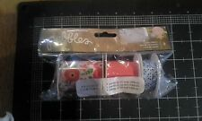 Pebbles Inc Happy day  paper ribbon Flower floral polka dot - New
