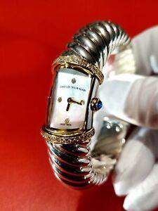 David Yurman Waverly Watch. Diamond bezel. 18K. Silver. MOP dial. NO RESERVE!!!