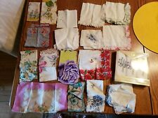 LOT of 20 VINTAGE LADIES HANDKERCHIEFS, HANKIES, Floral, Embroidery, White