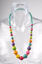 Collier ethnique en bois multicolor no 10