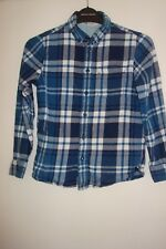Boys Blue Checked Shirt from H&M - Size EUR 134 (US 8-9 Yrs)
