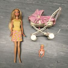 Barbie & baby sister Krissy dolls and stroller set 1999
