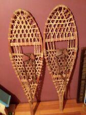 Vintage Wooden Snowshoes 48x13