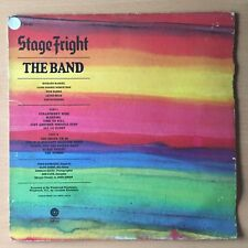 THE BAND Stage Fright US Press LP