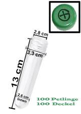 100 Petlinge + Deckel Preform grün Geocaching Versteck Behälter wasserdicht NEU
