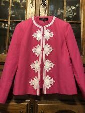 KASPER Women Suit Top Size 6P Linen Pink
