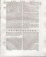 1797 Géorgien Treatise / Article Architecture + 20 Superbe Plaques 18th Siècle
