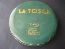 ANTIGUA CAJA DE LATA. LA TOSCA. CONFITERIA CHOCOLATERIA. TOULOUSE (FRANCIA)