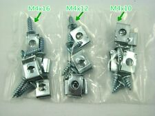 4mm 30 PIECE SCREW SET WITH U CLIPS FOR CHINESE SCOOTERS, ATVS AND KARTS