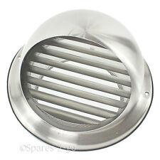 Acier Inoxydable Mur air vent cuisine extracteur outlet Insecte Moucherons grille 125mm