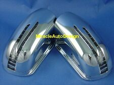 ARROW LED DOOR MIRROR CHROME COVERS SET FOR 2002-2006 MERCEDES BENZ W211 E-CLASS