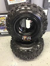 DWT Carlisle Wheel & Tire Kit 18x6.5x8, 8 x 6, 4 on 110 DRR Cobra Apex 70cc 50cc