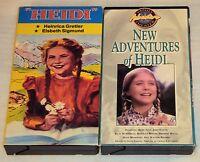 HEIDI B&W, NEW ADVENTURES OF HEIDI Color VHS Elsbeth Sigmund Family Friendly OOP