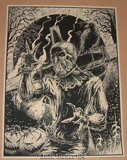 Godmachine Scarecrow Batman Poster Art Print Numbered Limited Edition