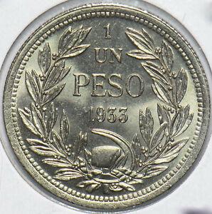 Chile 1933 Peso Vulture animal 293307 combine shipping