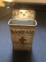 Antique Vintage Band Aid Tin Metal Box Adhesive Bandages Johnson & Johnson USA
