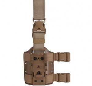 New Safariland 6005 Double Strap Drop Leg Shroud STX 6005-6 Tan Quick Release