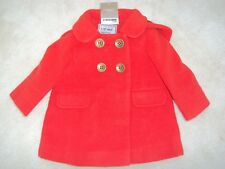 Brand New Baby Girl Orange / Red Warm Coat  with Hood Age 3-6 months from NEXT