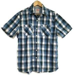 Levi's Men's Button Front Shirt Size L Cotton Casual Smart Short Sleeve