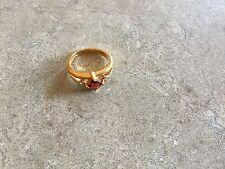Lia Sophia Red Carpet Ring Genuine Garnet & CZ's Size 7 RARE
