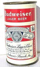 Budweiser Split Label flat top beer can - 3 city - St. Louis Vanity Lid Empty
