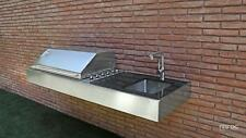 BBQ Gas Outdoor Kitchen Stainless Steel Bench And Grill Luxurios Granite Top