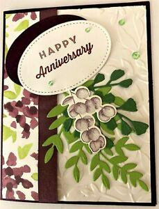 Handmade Floral Anniversary Card