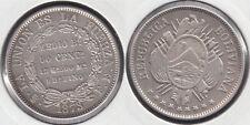 BOLIVIA. 50 CENTAVOS DE 1873 FE. PLATA 0.900.