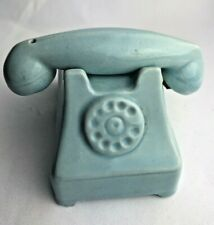 RARE Vintage Salt & Pepper Shakers Ceramic Rotary Telephone Phone Stacking