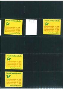 34 Berlin Markenheftchen aus 9-15 ** postfrisch - teils geprüft Schmidl BPP