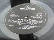 The Beatles 20 Greatest Hits 1987 UK LP seltenere Label barcodierte Ärmel