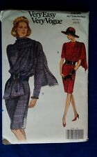 Voque 7936  sewing  pattern Dress Size 6-10   Attached  Drape  New