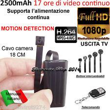 Spy MICRO Camera Spia FULL HD ALIMENTATA MOTION DETECTION TELECAMERA MICROCAMERA