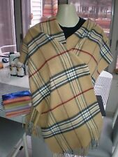NEW Lord&Taylor MADE IN GERMANY ACRYLIC  Plaid Camel Scarf Shawl GORGEOUS UNISEX