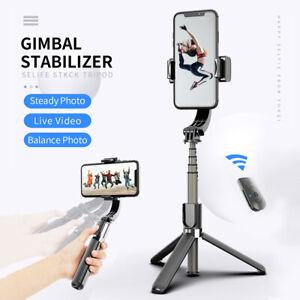 Handheld Gimbal Stabilizer Anti-Shake Selfie Stick Bluetooth Tripod Phone Holder