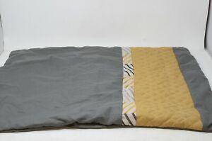 Hallmart 20-Inch x 26-Inch Standard Queen Pillow in Gold, Charcoal & Light Gray