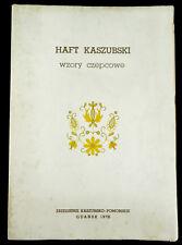 BOOK Polish Folk Embroidery Patterns Kaszuby costume headdress design POLAND art