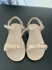 AUTHENTIC, NEW Prada Girls Nude/Beige Leather sandals Size EU 23 ~ 7 US toddler