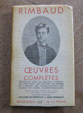 OEUVRES COMPLETES by Arthur Rimbaud - 1st HCDJ 1951 French slipcase