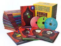 Shakespeare Childrens Stories 20 Hardback Books with Audio CD Gift Set Brand New