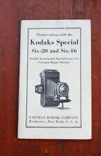 KODAK SPECIAL SIX-20, SIX-16 (ANASTIGMAT F/4.5) INSTRUCTION BOOK/cks/200985