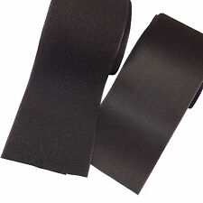 "BLACK Sew On Hook and Loop Set fastener tape ~ 6"" x 2 Feet ft SHIPS FROM the USA"
