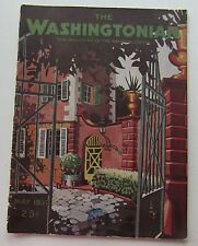 Rare The Washingtonian Magazine Art Deco Cover c May 1930